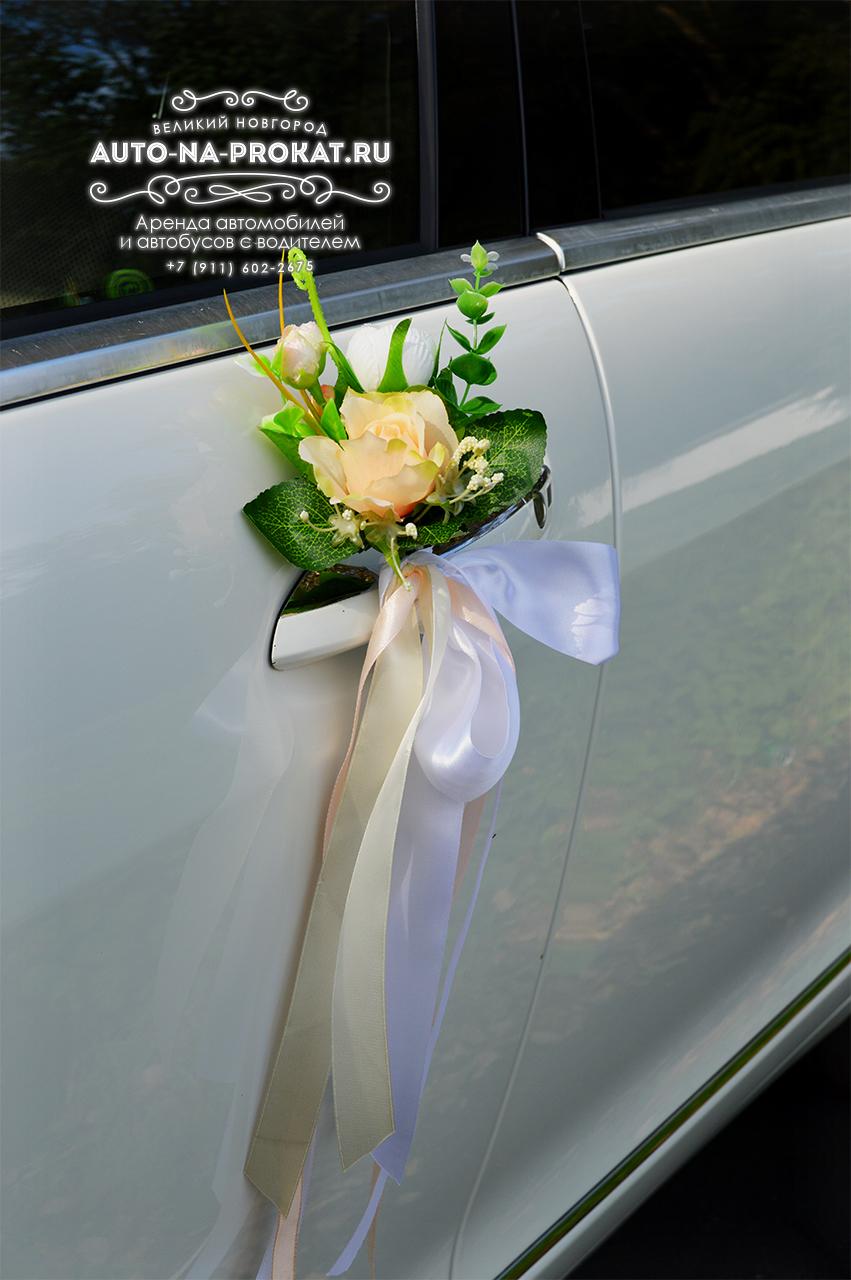 Украшения на ручки машин на свадьбу фото
